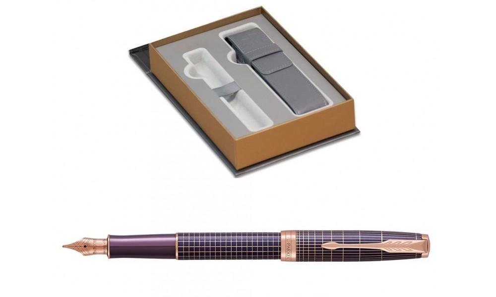 Pióro Wieczne Parker Sonnet F Premium Chiselled Purple Pgt Z Etui