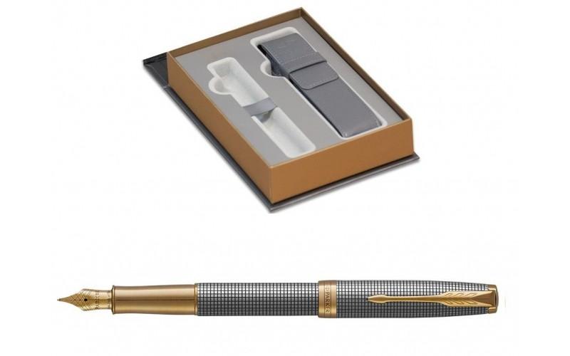 Pióro Wieczne Parker Sonnet F Premium Chiselled Silver Gt Z Etui