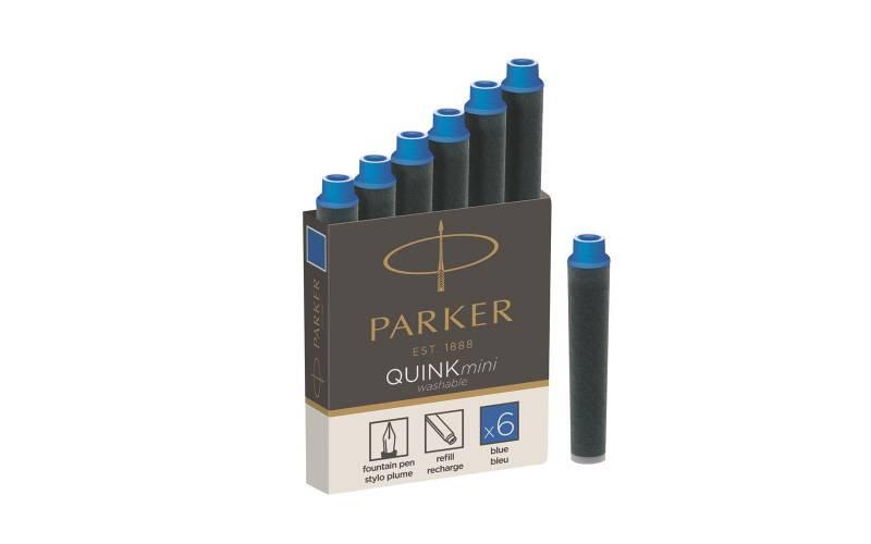 Naboje Parker Quink Mini Niebieskie (6szt) 1950409